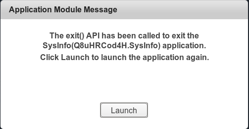 Launch an application again