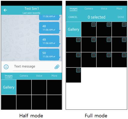 Attach panel modes