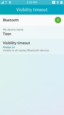 Bluetooth visibility setting application