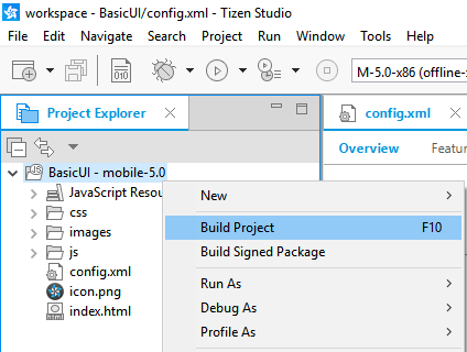 Manually building the application