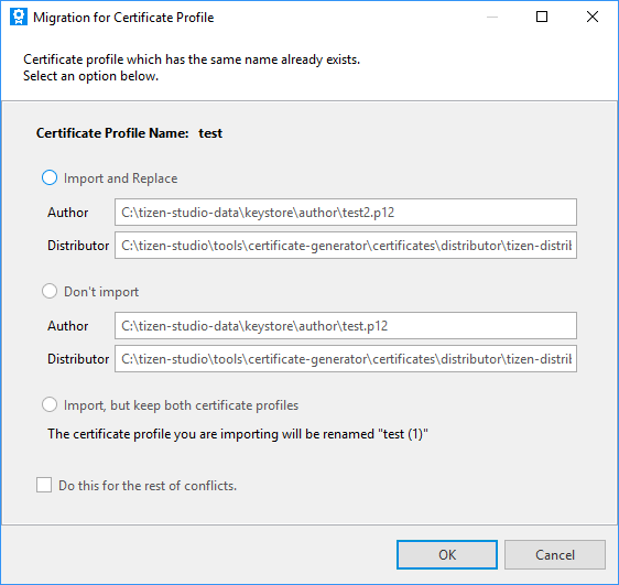 Migrating certificate profiles