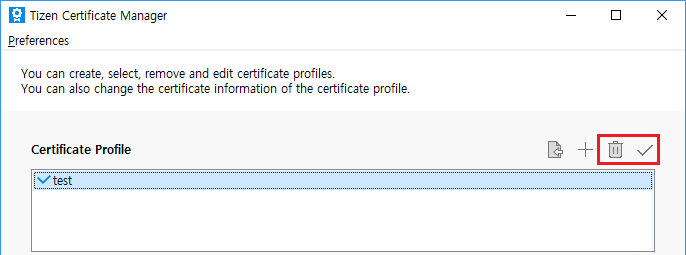 Removing the certificate profile