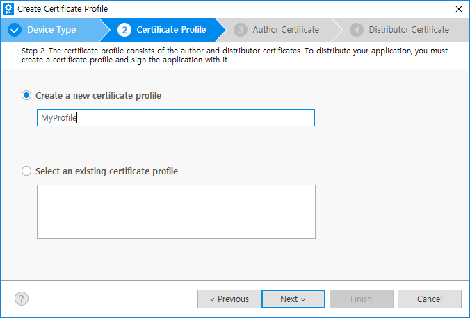 Creating Certificates | Tizen Developers