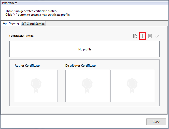 Create a new certificate