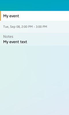 Viewing a calendar event