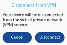 Disconnecting VPN