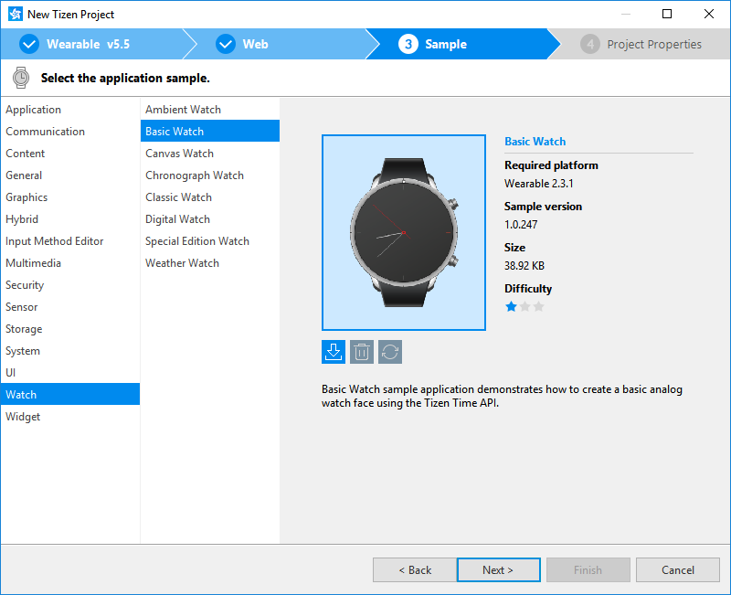 Create Your First Tizen Wearable Web Watch Application