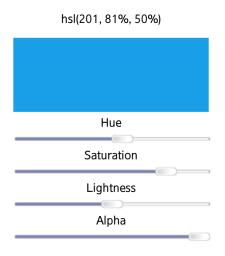 HSLA color generator