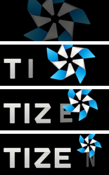 Full Tizen logo animation