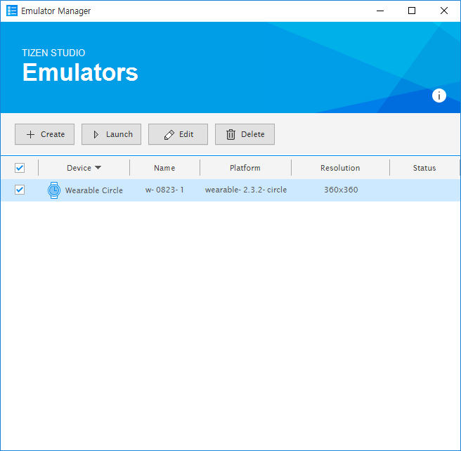 Launching the emulator