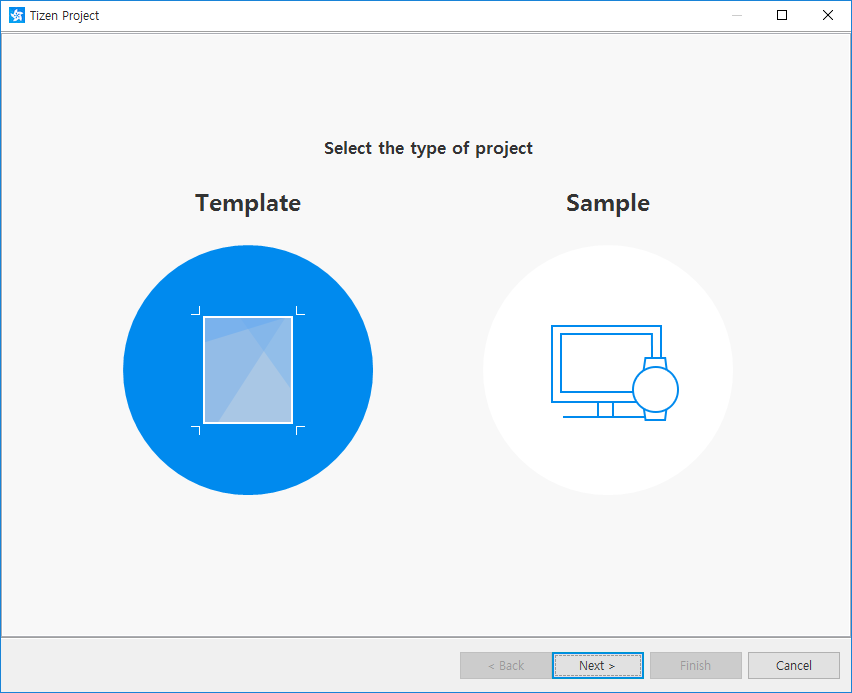 Selecting the project type