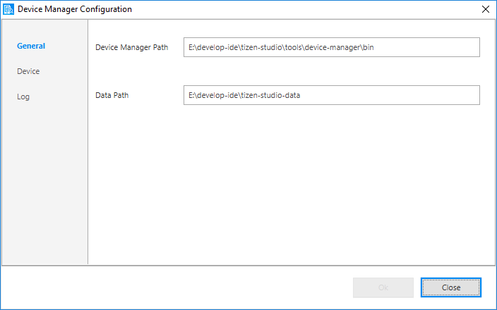 Device Manager Configuration