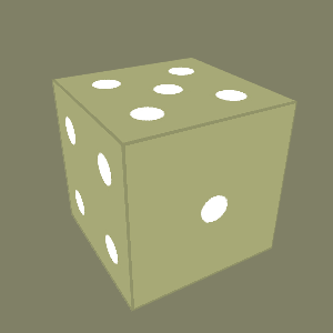 Dice on the screen