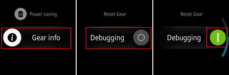 Switch on debugging