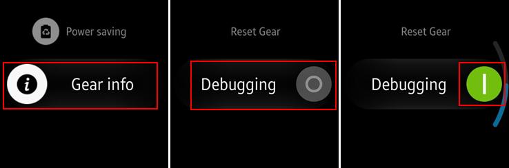Switch on debugging