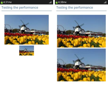 Enlarging a low-resolution image