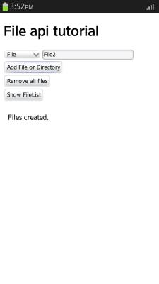 Adding a file