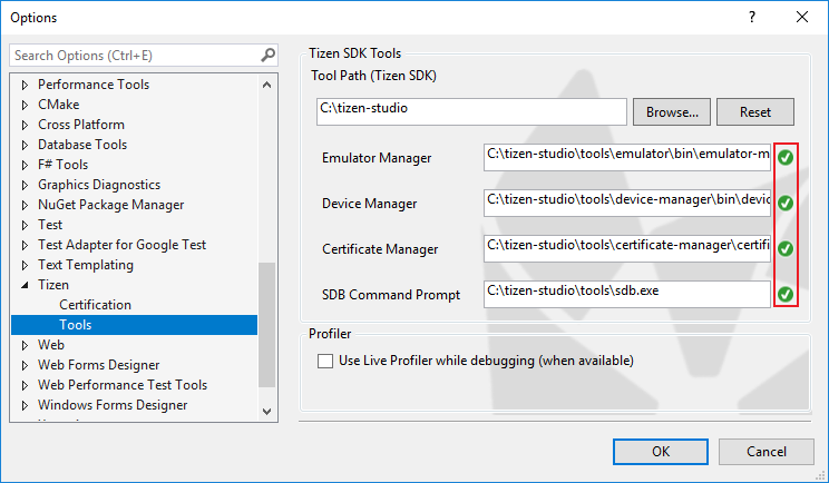 Check the SDK tool path