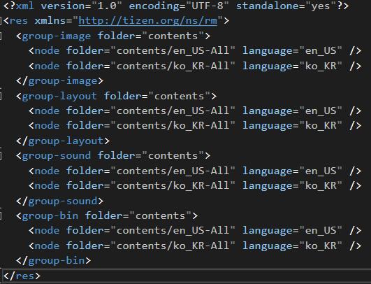 res.xml code