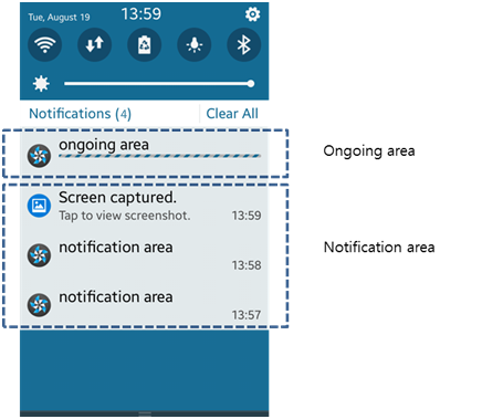 Notification and on-going areas