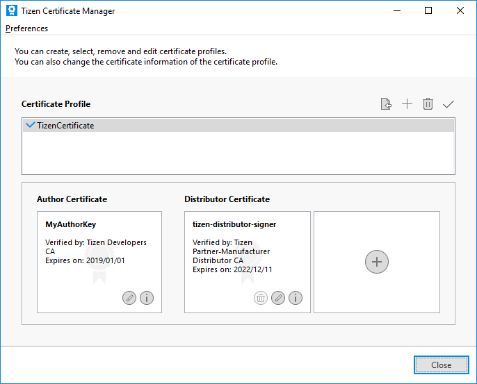 View new certificate