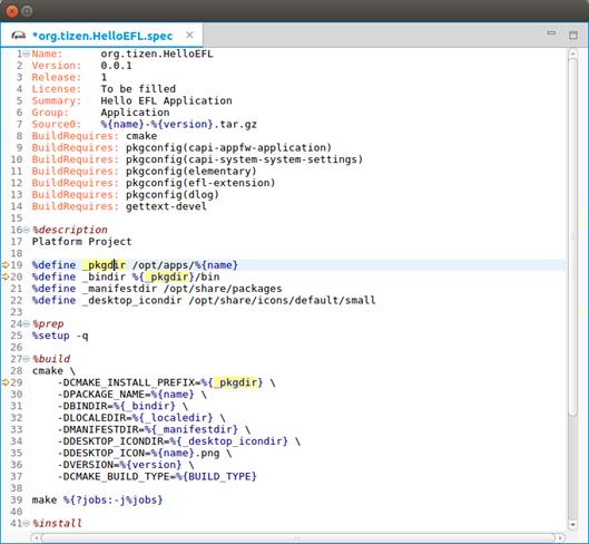 Specfile Editor