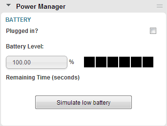 Power Manager panel