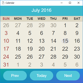 HTML previewer (calendar application in mobile Web) and CSS previewer