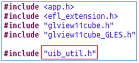 Include uib_util.h file