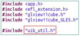 Include uib_util.h file