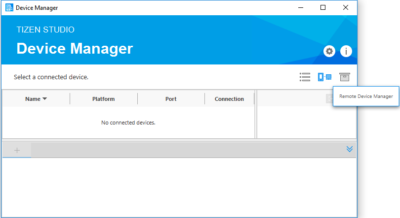 Launch the Remote Device Manager
