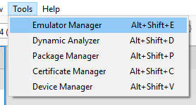 Emulator Manager