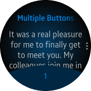 Multiple footer buttons on a circular device