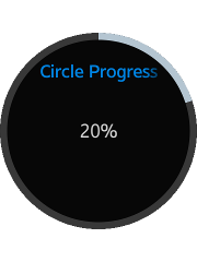Circle-shaped progress bar component on a circular device