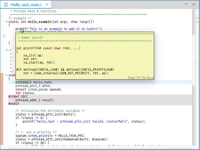 API hover popup