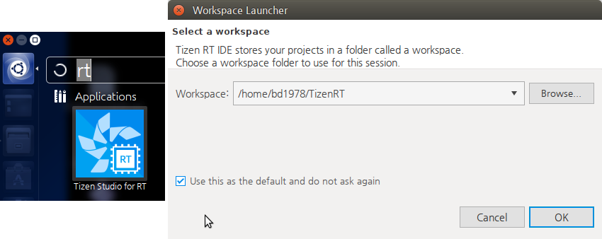 Launch the IDE