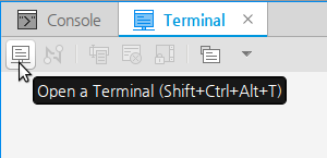 Opening a terminal