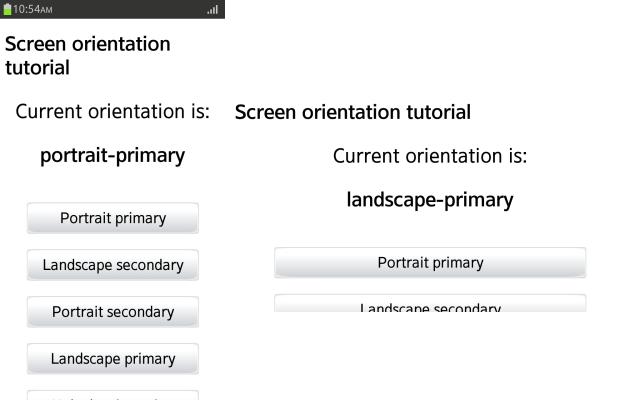 Screen orientation application