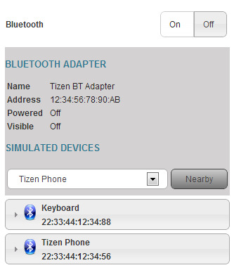 Bluetooth parameters