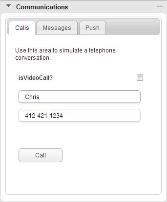 Calls tab
