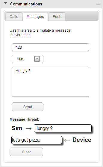 Messages tab
