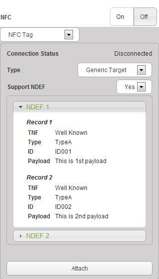 NFC parameters