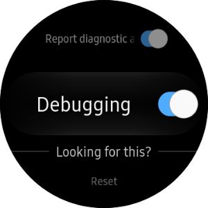 Debugging menu