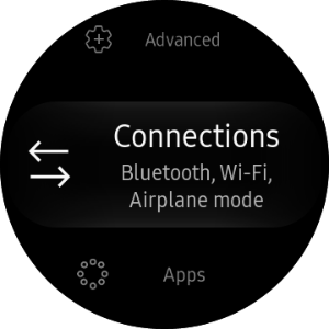 Connections menu