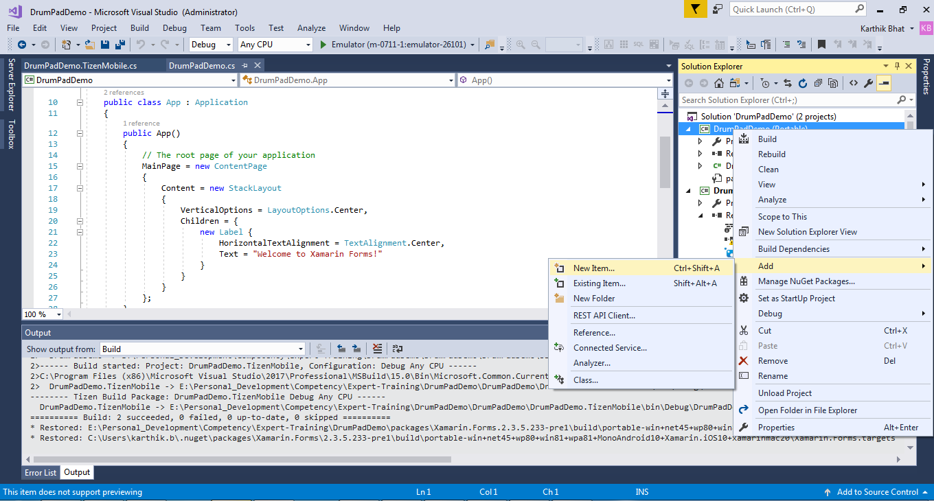 Developing Tizen  NET Applications with Tizen Multimedia