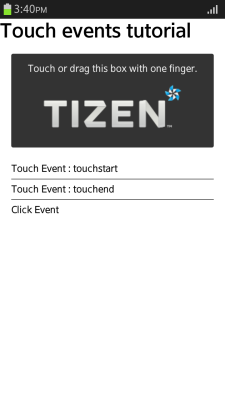 Simple touch (in mobile applications only)