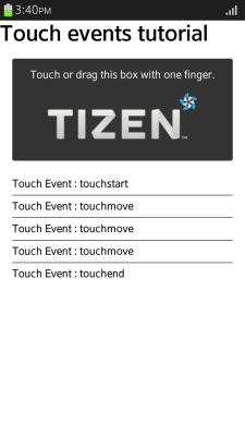 Moving touch (in mobile applications only)