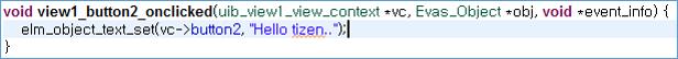 Event handler code