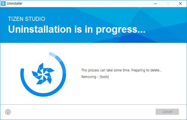 Uninstallation in progress