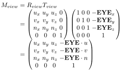 View matrix